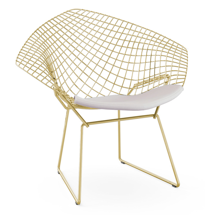 in the 1950s when most chairs were made of rigid wood the harry bertoia furniture line with welded wire and a springy feel were totally innovative - Chaise Bertoia
